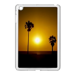 Sunset Scene At The Coast Of Montevideo Uruguay Apple Ipad Mini Case (white) by dflcprints
