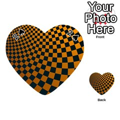 Abstract Square Checkers  Playing Cards 54 (heart)  by OZMedia