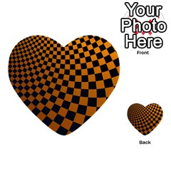 Abstract Square Checkers  Multi-purpose Cards (heart)