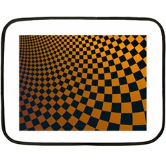 Abstract Square Checkers  Fleece Blanket (mini)