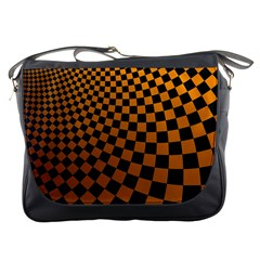 Abstract Square Checkers  Messenger Bags by OZMedia