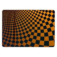 Abstract Square Checkers  Samsung Galaxy Tab 10 1  P7500 Flip Case