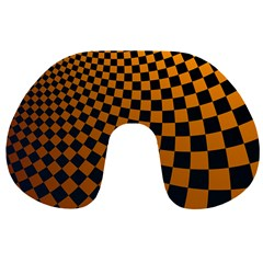 Abstract Square Checkers  Travel Neck Pillows