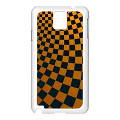 Abstract Square Checkers  Samsung Galaxy Note 3 N9005 Case (white) by OZMedia