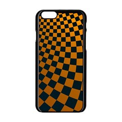 Abstract Square Checkers  Apple Iphone 6/6s Black Enamel Case