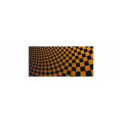 Abstract Square Checkers  Satin Scarf (oblong) by OZMedia
