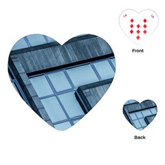 Abstract View Of Modern Buildings Playing Cards (heart)