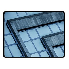 Abstract View Of Modern Buildings Fleece Blanket (small)