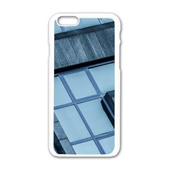 Abstract View Of Modern Buildings Apple Iphone 6/6s White Enamel Case by OZMedia