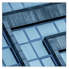 Abstract View Of Modern Buildings Large Satin Scarf (square) by OZMedia