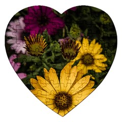 Beautiful Colourful African Daisies  Jigsaw Puzzle (heart) by OZMedia