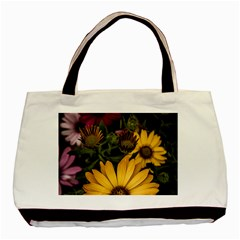 Beautiful Colourful African Daisies  Basic Tote Bag (two Sides)  by OZMedia