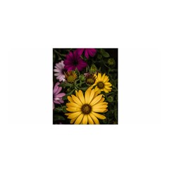 Beautiful Colourful African Daisies  Satin Wrap by OZMedia