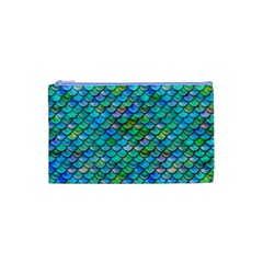 Mermaid Scales Cosmetic Bag (small) by Ellador