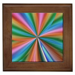 Abstract Rainbow Framed Tiles