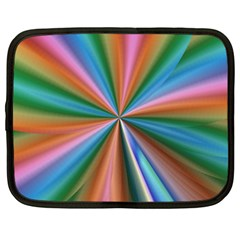 Abstract Rainbow Netbook Case (large) by OZMedia
