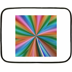 Abstract Rainbow Double Sided Fleece Blanket (mini)  by OZMedia