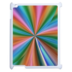 Abstract Rainbow Apple Ipad 2 Case (white) by OZMedia