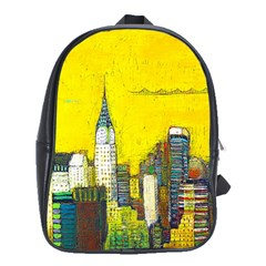 New York City With Yellow School Bags (xl)  by BIBILOVER