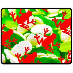 Box Of Frogs  Fleece Blanket (medium)  by essentialimage