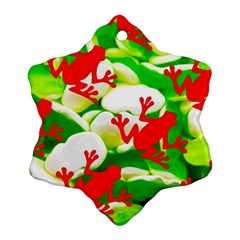 Box Of Frogs  Snowflake Ornament (2 Side)