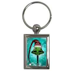 I Wish You A Merry Christmas, Funny Skull Mushrooms Key Chains (rectangle)  by FantasyWorld7