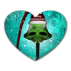 I Wish You A Merry Christmas, Funny Skull Mushrooms Heart Mousepads by FantasyWorld7