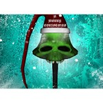 I Wish You A Merry Christmas, Funny Skull Mushrooms TAKE CARE 3D Greeting Card (7x5)  Front