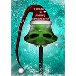 I Wish You A Merry Christmas, Funny Skull Mushrooms TAKE CARE 3D Greeting Card (7x5)  Inside