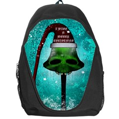I Wish You A Merry Christmas, Funny Skull Mushrooms Backpack Bag by FantasyWorld7