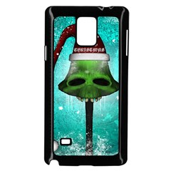 I Wish You A Merry Christmas, Funny Skull Mushrooms Samsung Galaxy Note 4 Case (black) by FantasyWorld7