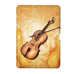 Wonderful Violin With Violin Bow On Soft Background Samsung Galaxy Tab 2 (10 1 ) P5100 Hardshell Case