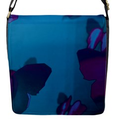 Purple And Turquoise Butterflies Flap Messenger Bag (s) by essentialimage