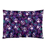 Flowers and Skulls Pillow Case (Two Sides) Front