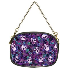 Flowers And Skulls Chain Purse (two Sided)  by Ellador