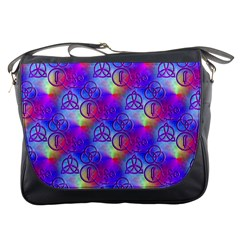 Rainbow Led Zeppelin Symbols Messenger Bag by SaraThePixelPixie