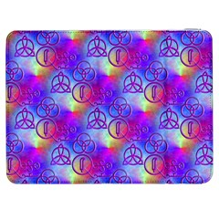 Rainbow Led Zeppelin Symbols Samsung Galaxy Tab 7  P1000 Flip Case by SaraThePixelPixie