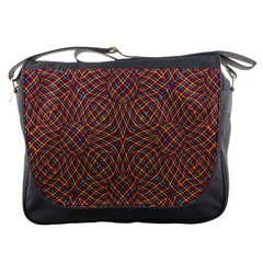 Trippy Tartan Messenger Bag by SaraThePixelPixie