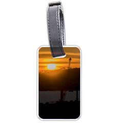 Aerial View Sunset Scene Of Montevideo Uruguay Luggage Tags (one Side)  by dflcprints