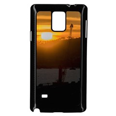 Aerial View Sunset Scene Of Montevideo Uruguay Samsung Galaxy Note 4 Case (black) by dflcprints