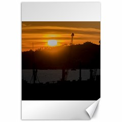 Aerial View Sunset Scene Of Montevideo Uruguay Canvas 24  X 36  by dflcprints