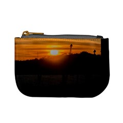 Aerial View Sunset Scene Of Montevideo Uruguay Mini Coin Purses
