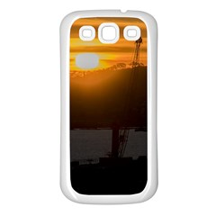 Aerial View Sunset Scene Of Montevideo Uruguay Samsung Galaxy S3 Back Case (white) by dflcprints