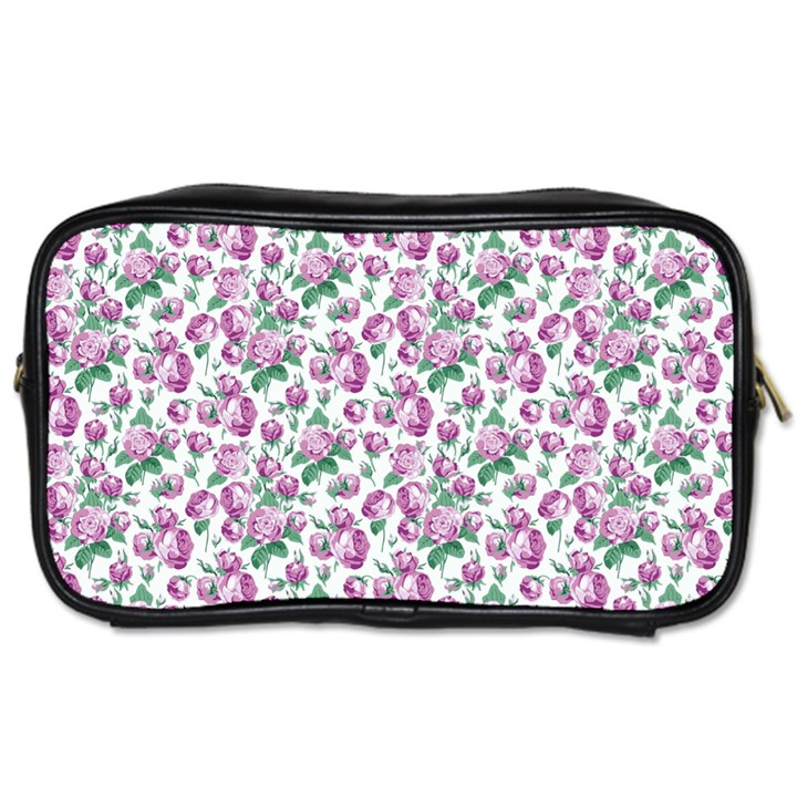 Purple Roses Travel Toiletry Bag (One Side)