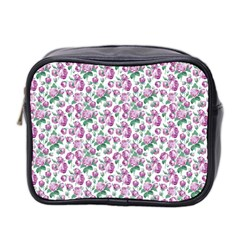 Purple Roses Mini Travel Toiletry Bag (two Sides) by 4SeasonsDesigns