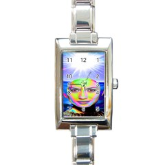 Sunshine Illumination Rectangle Italian Charm Watches by icarusismartdesigns