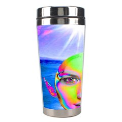Sunshine Illumination Stainless Steel Travel Tumblers by icarusismartdesigns