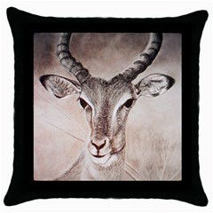 Antelope Horns Throw Pillow Cases (black) by TwoFriendsGallery