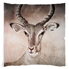 Antelope Horns Large Cushion Cases (two Sides)  by TwoFriendsGallery