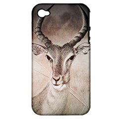 Antelope Horns Apple Iphone 4/4s Hardshell Case (pc+silicone) by TwoFriendsGallery
